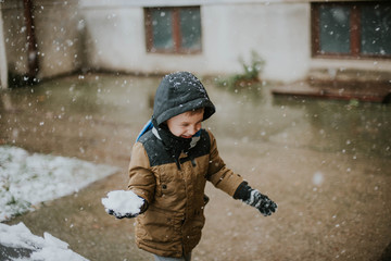 Boy at the snow