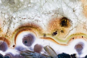Colorful quartz close up