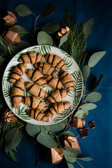 Rugelach cookies on the table