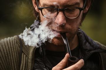 Exhaling Smoke