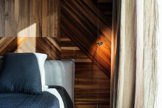 Cozy bedroom in contemporary interior