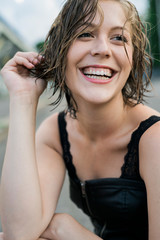 Happy and smiling woman portrait