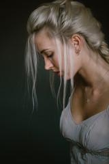 Sensual model on dark background