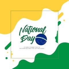 Brazil National Day Vector Template Design Illustration