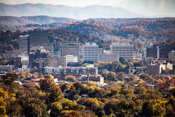 Great Smoky Mountains seen from Knoxville, TN