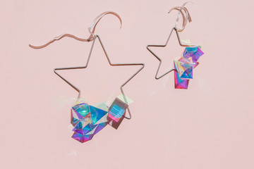 Iridescent christmas ornaments