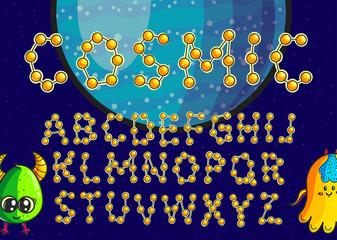 Constellation alphabet vector set