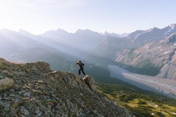 Running through the Mountains