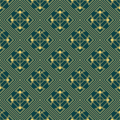 art deco geometric seamless pattern 3 golden line geometric illustration wallpaper graphic design vector