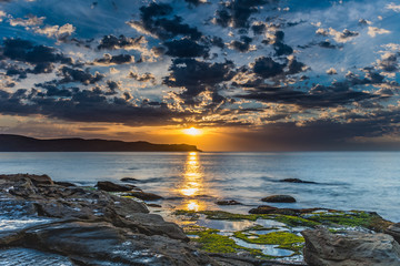 Sunrise Seascape with Clouds