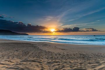 Suns Up Beach Scape