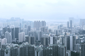 Kowloon view from Lion Rock hill