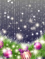 クリスマスの輝くオーナメント