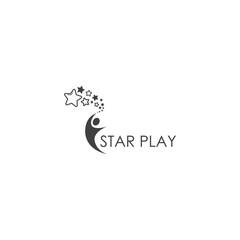 reaching star logo design template