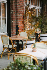 French inspired chairs outside of a cafe in NYC