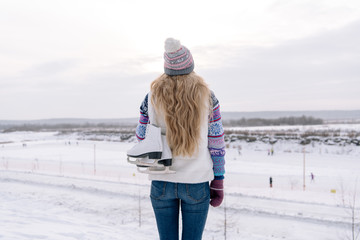 Woman standing at rink