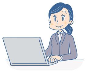 ビジネスウーマン パソコン