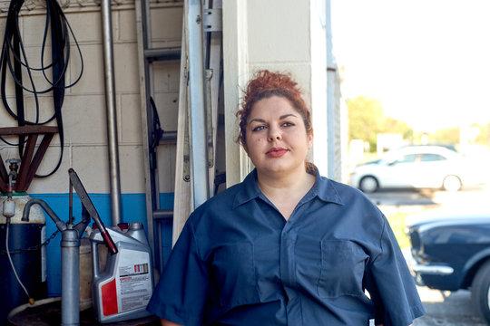 Female Mechanic Portrait in Her Shop