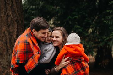 Portrait of Cute Family