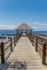 Wooden jetty at the Bali Barat National Park, Indonesia