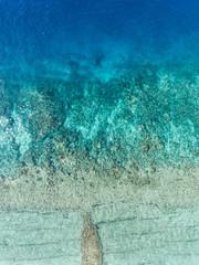 Blue ocean water on beach