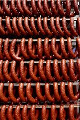 Sausages ready for sale