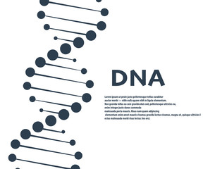 Dna vector. Gen symbol illustration Illustration Pictogram of DNA Symbol Isolated on White Background - Vector