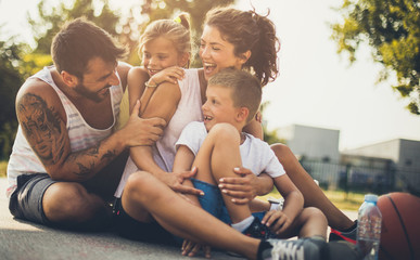 Happiness and smile of the family.