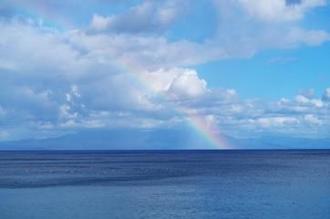 Poster Mer / Ocean 海と虹
