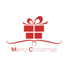 Merry Christmas and Happy New Year. Greeting, Gift or Purchases.  vector illustration