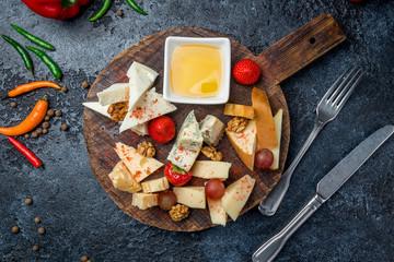 Cheese plate italian food