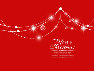 nice and beautiful abstract or poster for Merry Christmas with nice and creative design illustration.