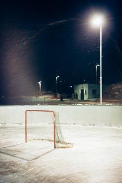 Hockey rink.