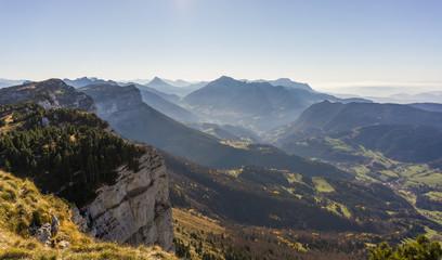 Paysage de montagne parc naturel Chartreuse Alpes France