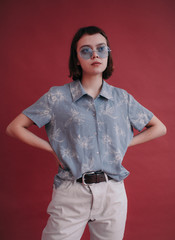 Retro style fashion portrait