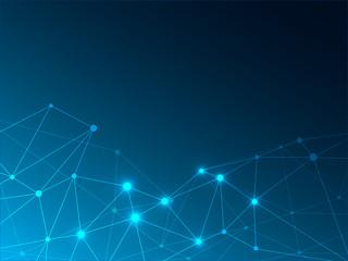 シンプルなネットワークのイメージ ネイビー