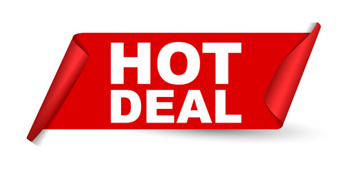 red vector banner hot deal