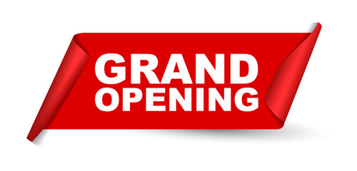 red vector banner grand opening Wall mural