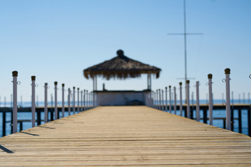 Old wooden pier background