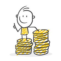 Strichfiguren / Strichmännchen: Finanzen, Geld. (Nr. 327)