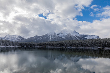 Herbert Lake on a cloudy day