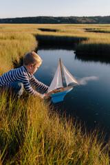 Autumn Sail in the Marsh
