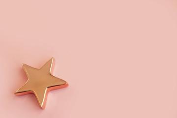 christmas stars isolated on pastel background