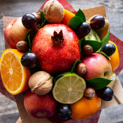bright bouquet of fruit