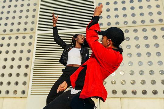Urban dancers.