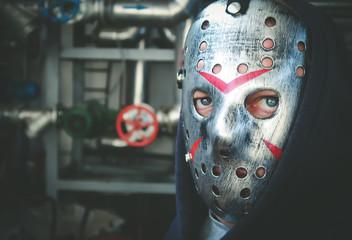 Maniac with a hockey mask