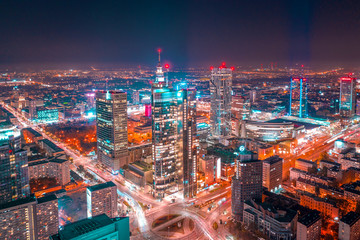 Obraz Warszawa z lotu ptaka - fototapety do salonu