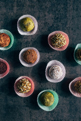 Colorful healthy cupcakes