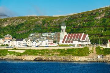 Blick auf Hammerfest in Norwegen