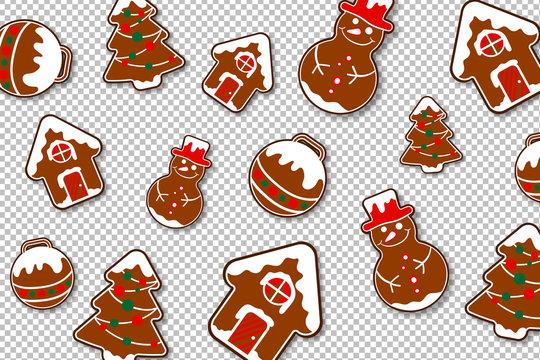 Lebkuchen Kekse - Freisteller